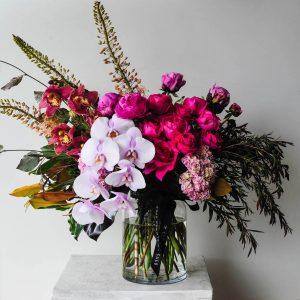 spring luxe flower arrangement