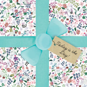 DESIGNER CARD - WRAPPED FLORALS
