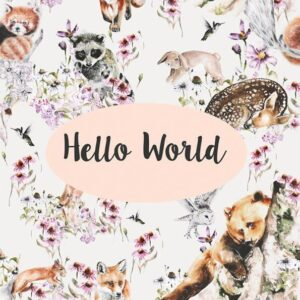 DESIGNER CARD - HELLO WORLD