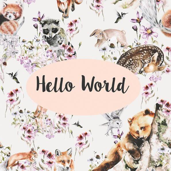 DESIGNER CARD - HELLO WORLD
