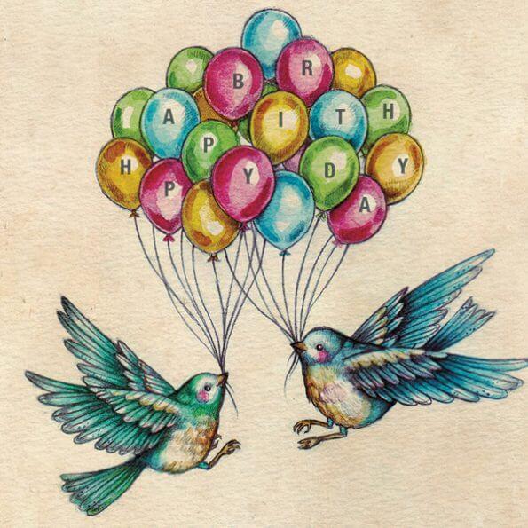 DESIGNER CARD - BIRTHDAY BIRDS