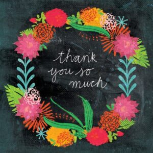 DESIGNER CARD - BOTANICAL THANK YOU