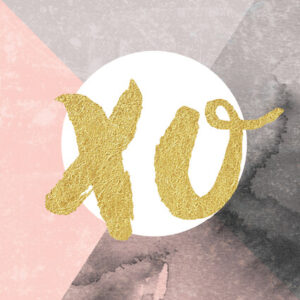 DESIGNER MINI CARD - GOLD XO