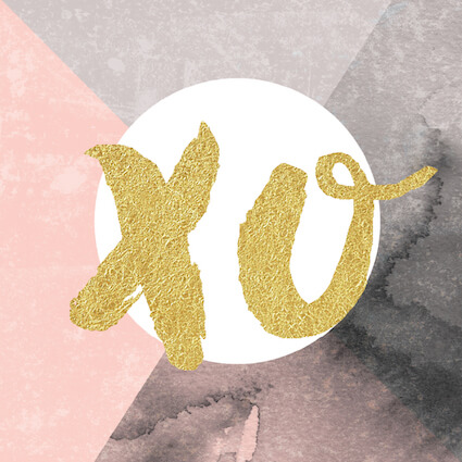 DESIGNER MINI CARD - GOLD XO