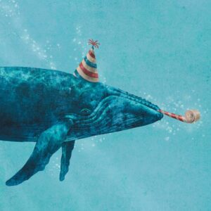 PARTY WHALE MINI CARD
