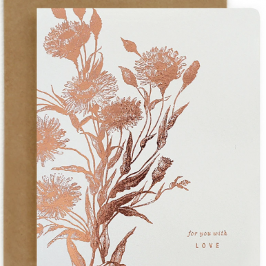 For you with love letterpress card