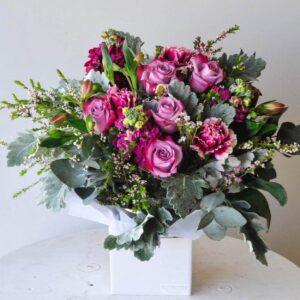 rose and miller flower arrangement