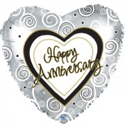 FOIL BALLOON - HAPPY ANNIVERSARY