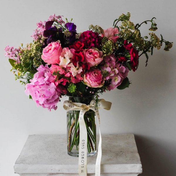 spring soiree flower arrangement