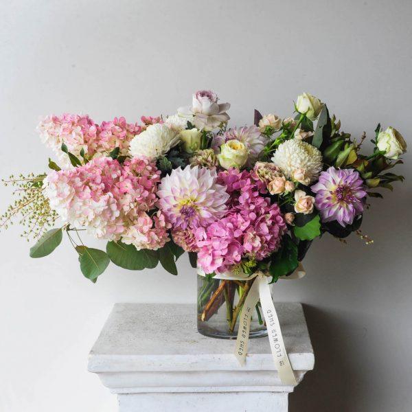 pastel summer flower arrangement