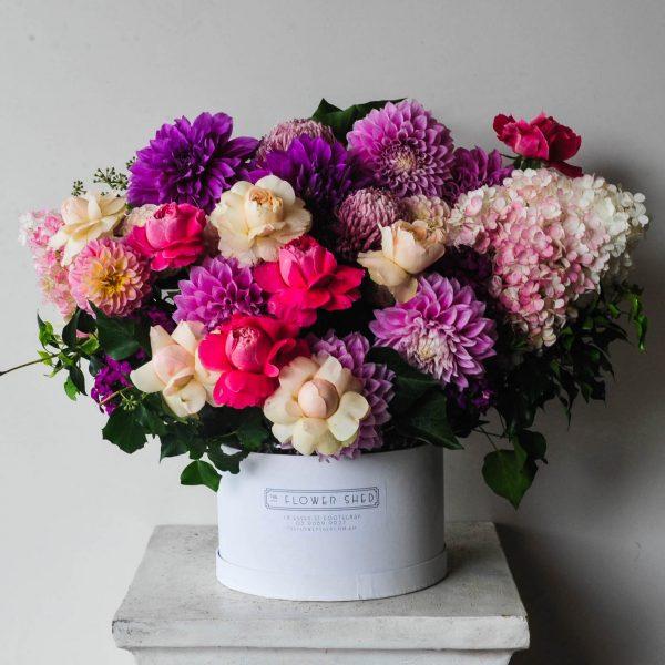 berry luxe flower arrangement